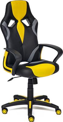 Кресло Tetchair RUNNER (кож/зам/ткань черный/жёлтый 36-6/tw 27/tw-12) кресло tetchair runner кож зам ткань черный красный 36 6 tw 08 tw 12