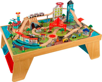 Деревянная железная дорога KidKraft со столом ''Аэросити'' 17554_KE