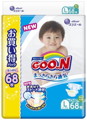 Подгузники GooN 9-14кг (68шт)L 853182