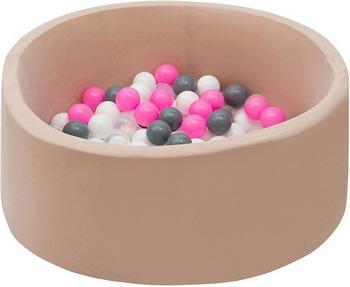 Бассейн сухой Hotnok Розовый жемчуг с 200 шарами в комплекте: роз сер бел прозр sbh 053 apple wireless keyboard rus сер бел