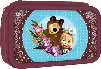 Пенал двухсекционный РОСМЭН Маша и Медведь Бирюза 22104 стоимость