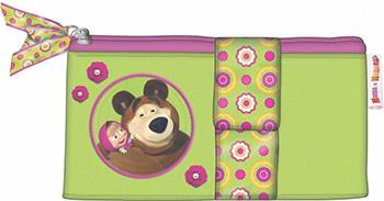Пенал двойной РОСМЭН ''Маша и Медведь'' Маленькая Модница 19490 росмэн перекидные странички развиваем логику маша и медведь