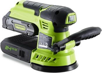 Фото - Эксцентриковая шлифовальная машина Greenworks G 24 ROS 3100107 аккумуляторная шлифовальная машина greenworks g24ros