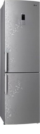 Двухкамерный холодильник LG GA-B 489 ZVSP холодильник с морозильной камерой lg ga b409uqda