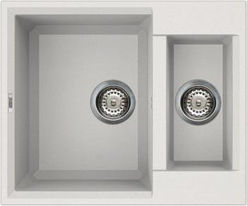 Кухонная мойка Elleci EASY 150  granitek (68) Bianco titano LGY 15068 мойка кухонная elleci ego 480 1000x500 granitek 62 lge48062