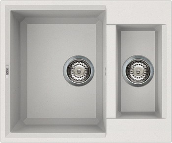 Кухонная мойка Elleci EASY 150 granitek (68) Bianco titano LGY 15068 цена