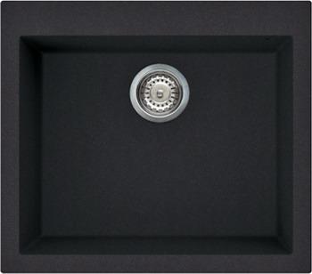 Кухонная мойка Elleci QUADRA 105  granitek (40) full black LGQ 10540 мойка кухонная elleci ego 480 1000x500 granitek 62 lge48062