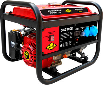 Электрический генератор и электростанция DDE GG 3300 E  электрогенератор dde gg 2700