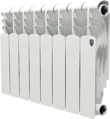 Водяной радиатор отопления Royal Thermo Revolution Bimetall 350 - 8 секц. royal thermo биметаллический revolution bimetall 500 8 секций