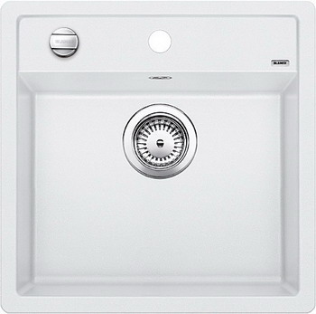 Кухонная мойка BLANCO DALAGO 5-F SILGRANIT белый с клапаном-автоматом кухонная мойка blanco dalago 45 f silgranit кофе с клапаном автоматом