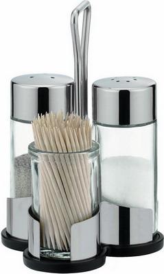 Набор емкостей для соли, перца и зубочисток Tescoma CLUB 650322 набор tescoma солонка перечница подставка под зубочистки 650322