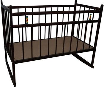 Детская кроватка Уренская мебельная фабрика 13 колесо-качалка темный