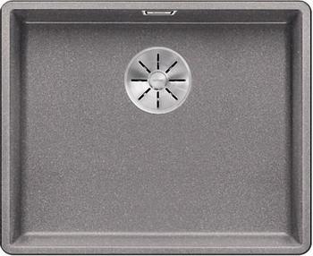 Кухонная мойка BLANCO SUBLINE 500-F алюметаллик с отв.арм. InFino 523534 мойка subline 400 f jasmine 519800 blanco