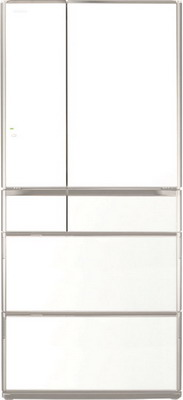 Многокамерный холодильник Hitachi R-G 690 GU XW белый кристалл многокамерный холодильник hitachi r sf 48 gu sn stainless champagne