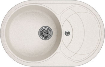 Кухонная мойка Weissgauff ASCOT 780 Eco Granit светло-бежевый  weissgauff softline 780 eco granit светло бежевый