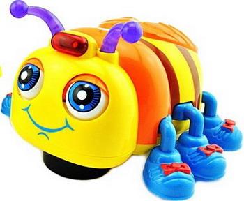Развивающая игрушка Huile Жучок со звуковыми и световыми эффектами huile игрушка музыкальная собачка с телефоном