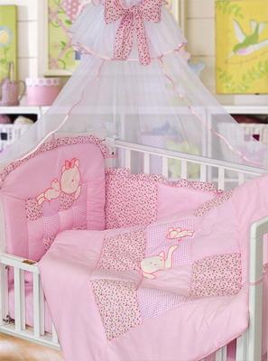 Комплект постельного белья Золотой Гусь Кошки-Мышки 7 предметов 100% хлопок (розовый) комплект постельного белья золотой гусь сабина 7 предметов 100% хлопок розовый