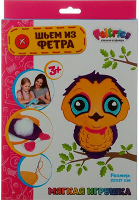 Набивная игрушка Feltrica ''Шьем из фетра'' Сова 2 (StarPets) 4627130653256 набор шьем из фетра тапочки сова docha