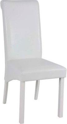 Стул Мебель Китая LW 101-P WHITE/WHITE (6524) (ЭКО кожа)