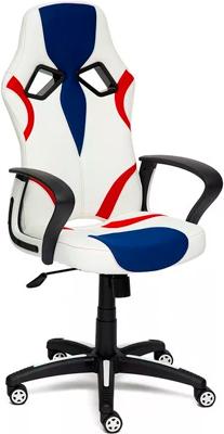 Кресло Tetchair RUNNER (кож/зам/ткань белый/синий/красный 36-01/10/08) colibri стол evert