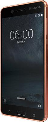 Мобильный телефон Nokia 6 Dual Sim Copper мобильный телефон nokia 216 dual sim голубой
