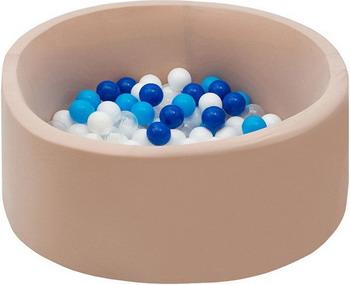 Бассейн сухой Hotnok Песок и море с 200 шарами в комплекте: син голуб бел прозр sbh 054 цена