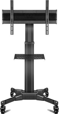 Мобильная стойка для презентаций ONKRON TS 2551 черная универсальная мобильная стойка ums 4 для интерактивных досок с крепежом для укф проекторов