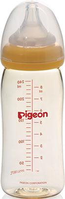 Бутылочка Pigeon для кормления Перистальтик Плюс 240 мл PP соска для бутылочек pigeon перистальтик плюс с широким горлом отверстие m с 3 мес