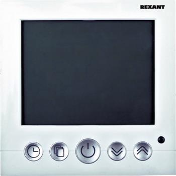 Терморегулятор REXANT 3680Вт с дисплеем и автоматическим программированием терморегулятор rexant 3680вт сенсорный с автоматическим программированием