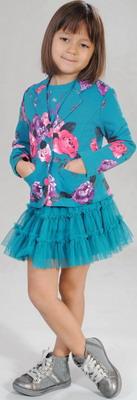 Юбка Fleur de Vie 24-0790 рост 128 м.волна блуза fleur de vie 24 2191 рост 128 морская волна