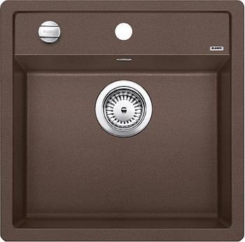 Кухонная мойка BLANCO DALAGO 5-F SILGRANIT кофе с клапаном-автоматом кухонная мойка blanco dalago 45 silgranit кофе с клапаном автоматом