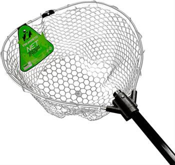Подсачек Tsuribito NET TRAP Fold c черной силиконовой сеткой складной длина 95см диаметр 38см BKT0-38379501 67944
