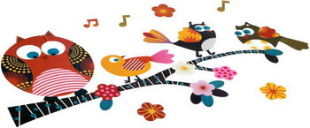 Набор декор наклеек на стену Bondibon Птички ВВ1506 bondibon набор декор наклеек на стену звери 50 70 см
