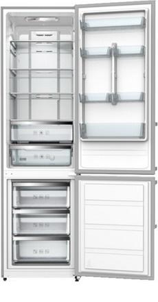 Двухкамерный холодильник Shivaki BMR-2001 DNFX холодильник shivaki bmr 2013dnfw двухкамерный белый