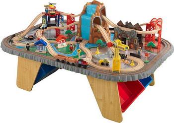 Многоуровневая железная дорога KidKraft Горный тоннель 17498_KE моя первая железная дорога kidkraft с конструктором 36 элементов