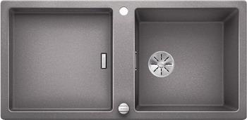 Кухонная мойка BLANCO ADON XL 6S SILGRANIT алюметаллик с кл.-авт. InFino 523606 кухонная мойка blanco 523605 adon xl 6s silgranit темная скала с кл авт infino