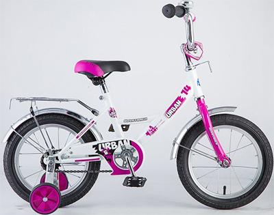 Велосипед Novatrack 14'' URBAN белый 143 URBAN.WT8 детский велосипед для мальчиков novatrack cosmic 14 2017 blue
