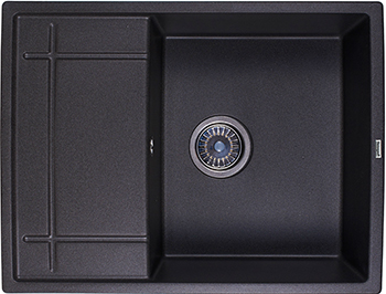 Кухонная мойка Weissgauff QUADRO 650 Eco Granit черный  weissgauff quadro 650 eco granit серый шёлк