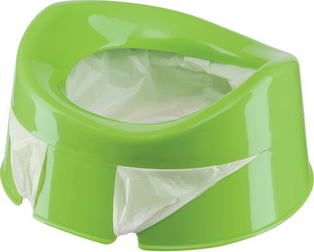 Горшок Happy Baby MINI POTTY 34004 green одноразовые пакеты для дорожного горшка happy baby potty liners 34007