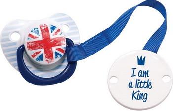 Соска-пустышка Happy Baby LITTLE QUEEN & LITTLE KING 13005 Blue пустышка happy baby bimbo с держателем