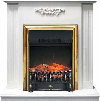 Каминокомплект Royal Flame Lumsden с очагом Fobos BR (белый) royal flame fobos fx brass rb std5brfx 64905218