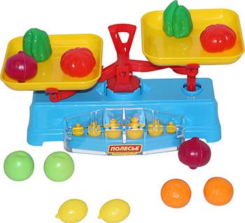Игровой набор Полесье Весы Набор продуктов (12 элементов) (в сеточке) автомобиль пожарный полесье volvo в сеточке 8787