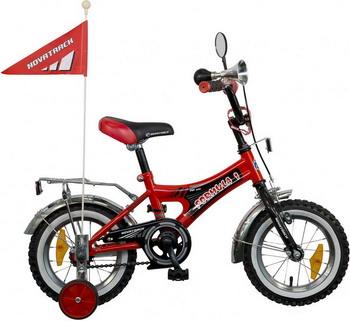 Велосипед Novatrack 12 A FORMULA черный/красный велосипед детский novatrack urban цвет красный черный 16