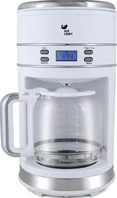 Кофеварка Kitfort КТ-704-1 белая кофеварка kitfort kt 706
