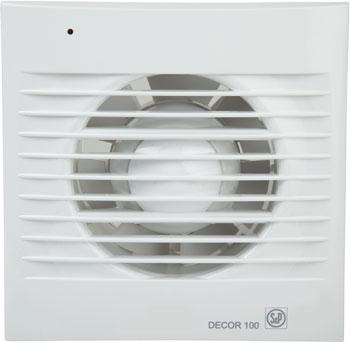 Купить Вытяжной вентилятор Soler amp Palau, D&#233 cor 100 CR с таймером (белый) 03-0103-005, Испания