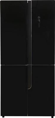 Многокамерный холодильник Ascoli ACDB 460 WG черное стекло