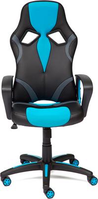 Кресло Tetchair RUNNER (кож/зам/ткань черный/голубой 36-6/23) runner