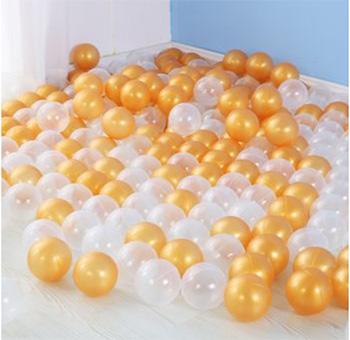 Комплект шариков для сухого бассейна Hotnok Пена с золотом (50 шт.) sbh 142 intex набор пластиковых шариков для сухого бассейна диаметр 6 5 см 100 шт
