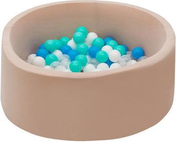 цена Бассейн сухой Hotnok Ванильный берег с 200 шарами в комплекте: мятн голуб бел прозр sbh 055