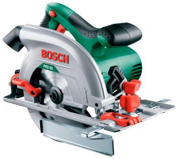 Дисковая (циркулярная) пила Bosch PKS 55 (0603500020) аккумуляторная дисковая пила bosch pks 18 li 2 5ah x1 06033b1302